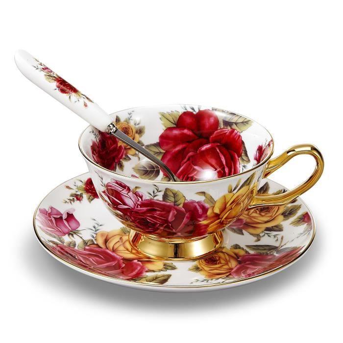 panbado service caf th anglais tasse 200ml en porcelaine la cendre d os avec soucoupe. Black Bedroom Furniture Sets. Home Design Ideas