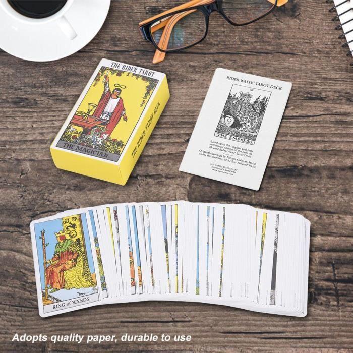 CARTES DE JEU 78pcs cartes de tarot d'anglais pour enfants  (  n