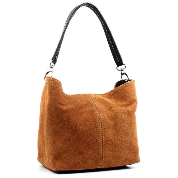 Mesdames Real Italian Suede en cuir Grand sac à main épaule sac fourre-tout A4R7B