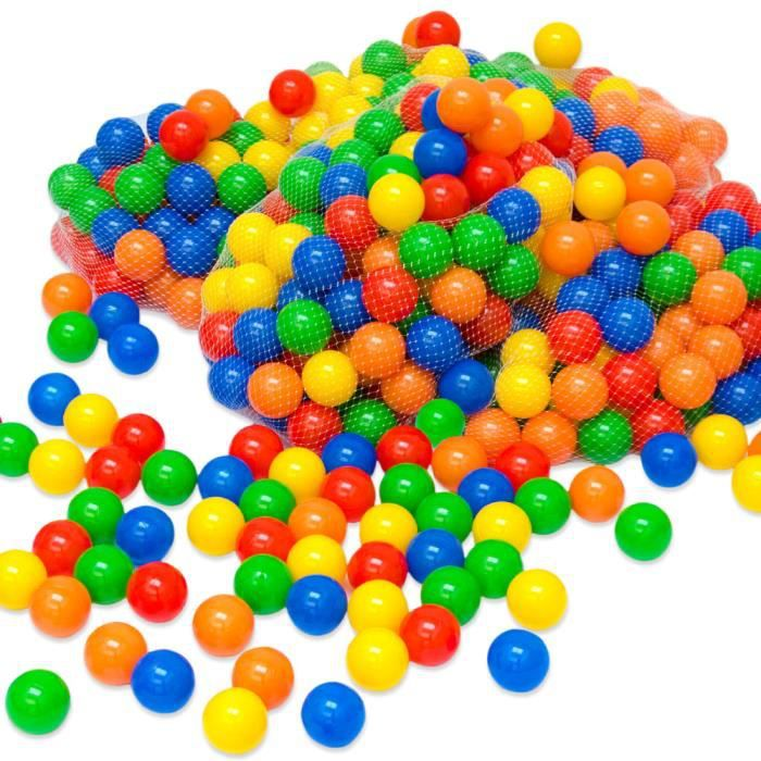 PISCINE À BALLES Balles colorées de piscine 100 Pièces