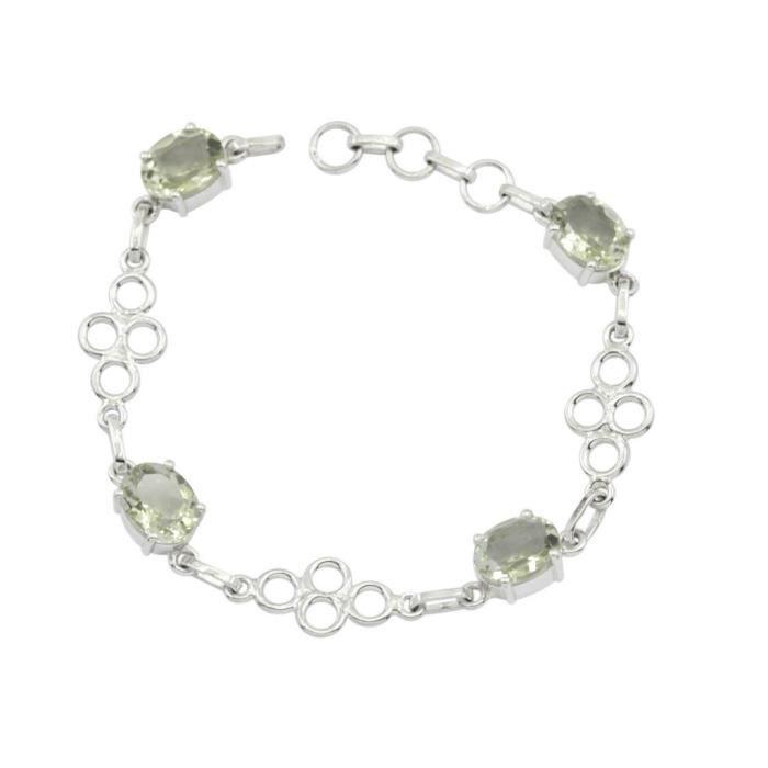 Améthyste verte Bracelet - Bracelet Argent - Bracelet vert - Vert Bracelet Argent