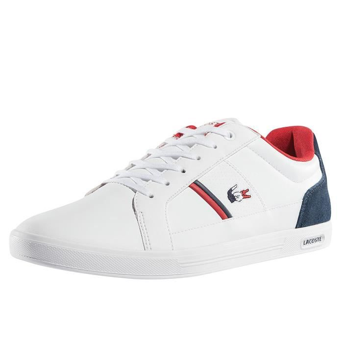 1102ab860b Lacoste Homme Chaussures / Baskets Europa 317 SPM LT Blanc Blanc ...