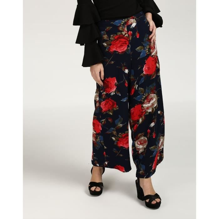 Georgette 36 Trendtwo haute Taille LORN0 palazzos Floral Palazzo Floral femme taille Tammy XaCqX