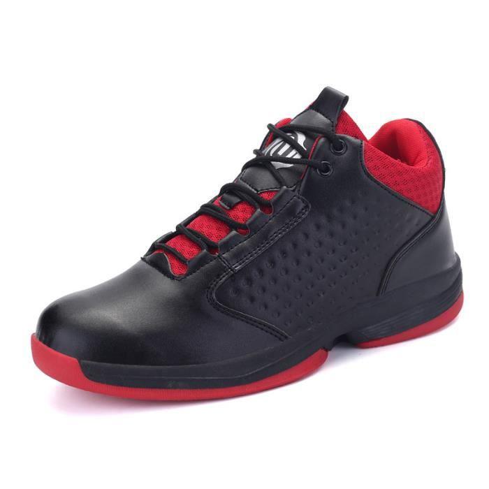 JOZSI Baskets Homme Chaussure été et hiver Jogging Sport léger Respirant Chaussures FXG-XZ221Noir39 2utpcWLnhc