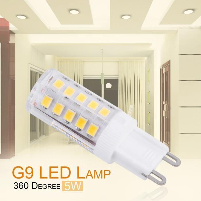 Ampoules Non 5w dimmable Angle G9 De Lot Chaud Blanc Led Large Faisceau 10 ZWnaOqE