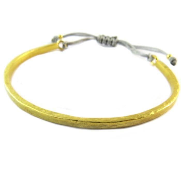 Bracelet artisanal plaqué or Princesse Ottomane gris doré [P2274]