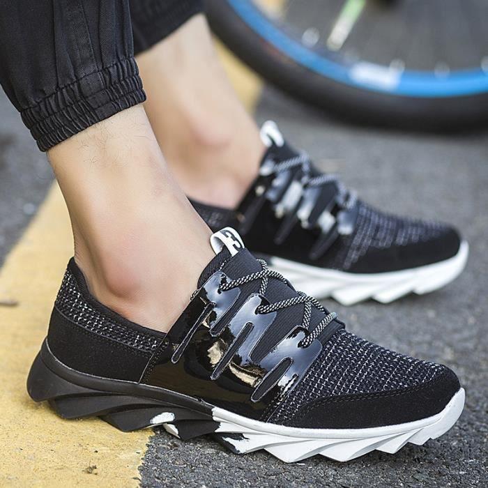 Sneakers à Vente Lace 10 Up Sports US de Patchwork course de 5 loisirs Hommes Taille Lin Casual Lame Chaussures Hot Chaussures 4 de 7SqAwq
