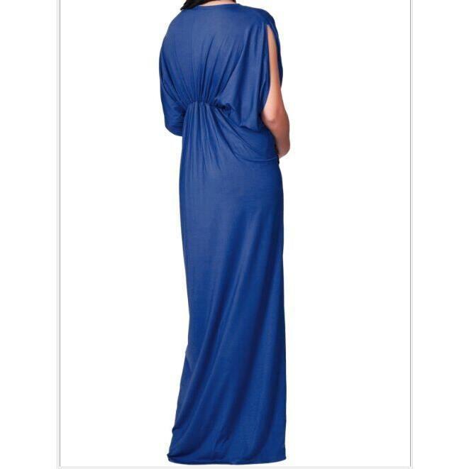 2017 été nouveau robe manche courte mince Jupe longue Sexy V-cou grands chantiers Jupe