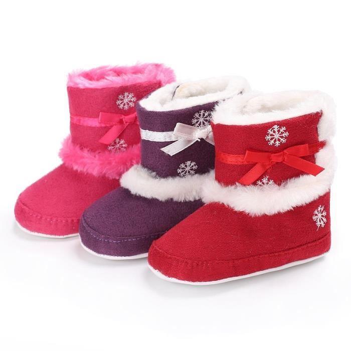 Super chaud fond mou Chaussures b rouge Lrouge L ébé d'hiver unisexe Nouveau-né Garçons Filles Anti-Slip Bottes pour bébé neige vD4e3q6em