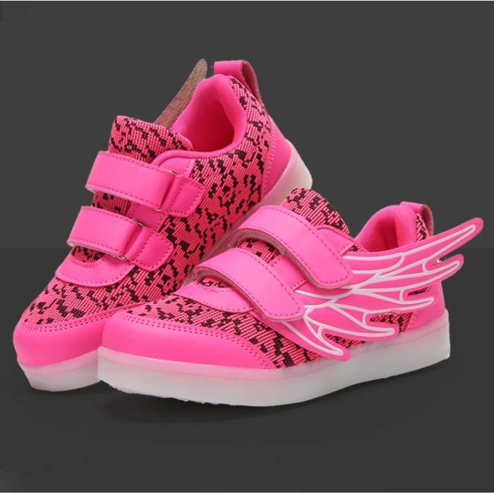 Enfants Mode chaussures Baskets Garçons filles Bébé LED 7 Couleur USB Ltoli6p7