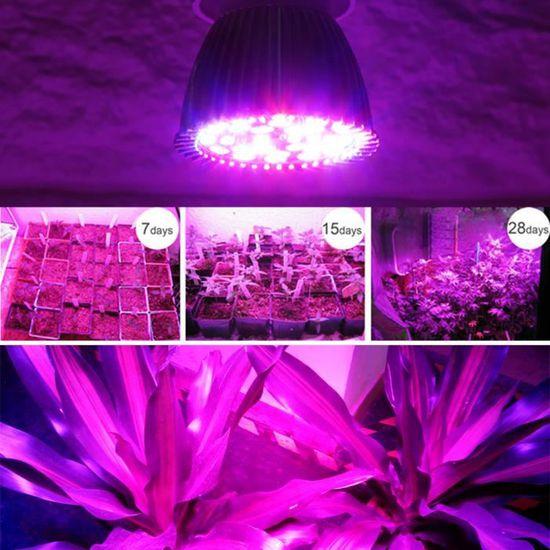 Ampoule Led Hydroponique Fleur Spectre Pr Croissance E27 Complet Photosynthèse Xy Aide 28w Lumière Fr Plante oBdCxe