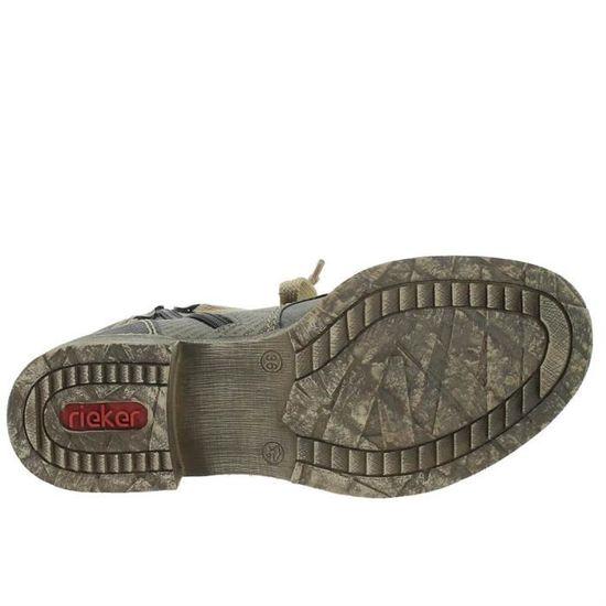 Bottines   low boots 70822 femme rieker 70822 Gris Gris - Achat   Vente  bottine - Soldes  dès le 9 janvier ! Cdiscount 976b94d423d1