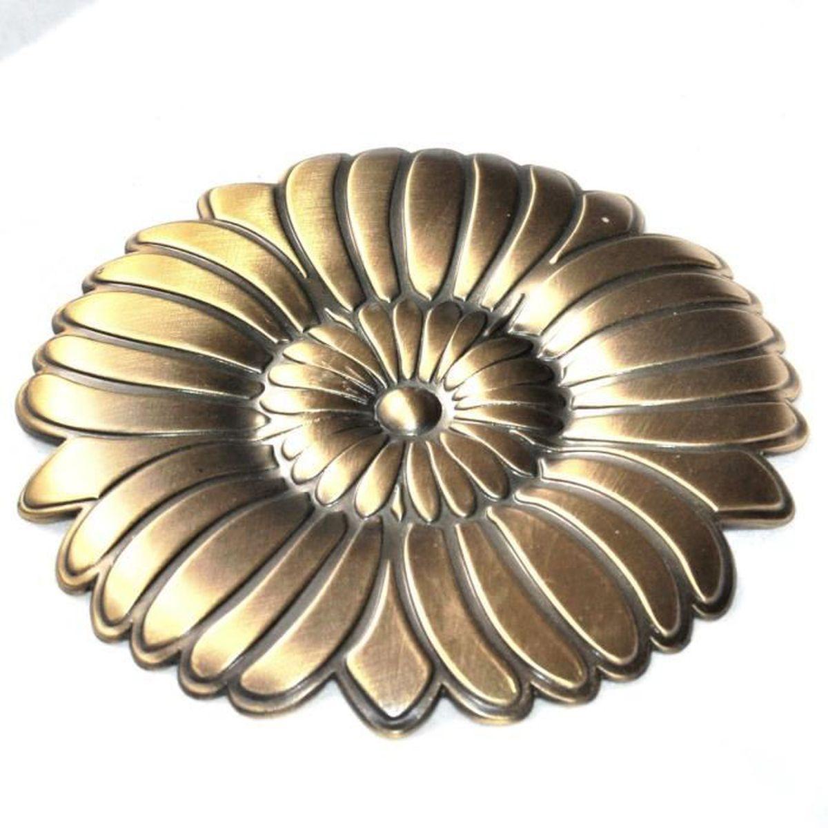 Grosse Broche Fleur Signé Kenzo Takada For Sofitel Alliage Bronze ... 72ad99e3929