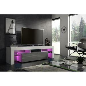 meuble tv led gris achat vente pas cher. Black Bedroom Furniture Sets. Home Design Ideas