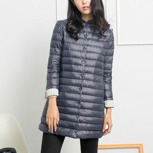 9c760dcad9138c Femmes à capuche ultra léger long hiver chaud veste doudoune à parka ...