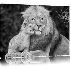 tableau lion noir et blanc achat vente tableau lion. Black Bedroom Furniture Sets. Home Design Ideas