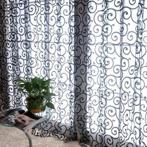 VOILAGE Rideau Fenêtre voile du Motif de Crochet de Flocag