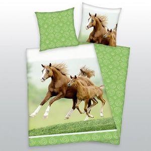 parure de lit 140x200 cheval achat vente pas cher. Black Bedroom Furniture Sets. Home Design Ideas