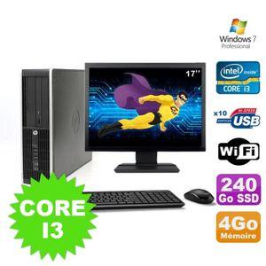 UNITÉ CENTRALE  Lot PC HP Compaq Elite 8100 SFF Core I3-530 4Go 24