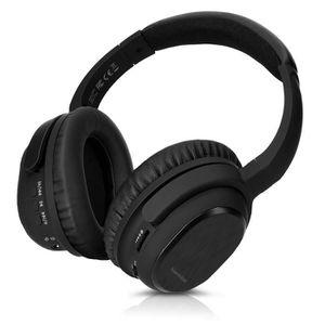 CASQUE - ÉCOUTEURS kwmobile Casque audio noir Bluetooth - Casque anti