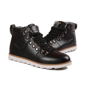 Hommes Bottes en cuir Mode automne hiver chaud Coton Marque Bottines lacées Chaussures  Homme Chaussuresnoir40 Noir Noir - Achat   Vente botte - Soldes  dès ... b771912bc93c