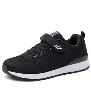 BASKET Hiver Mode Velcro Baskets Homme Chaussures Chaud -
