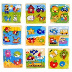 PUZZLE 1Pcs Jouets Educatifs Enfants Animal Puzzle en Boi