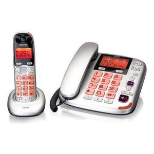 Téléphone fixe Téléphone sénior fixe + Téléphone sans fil DC581 P