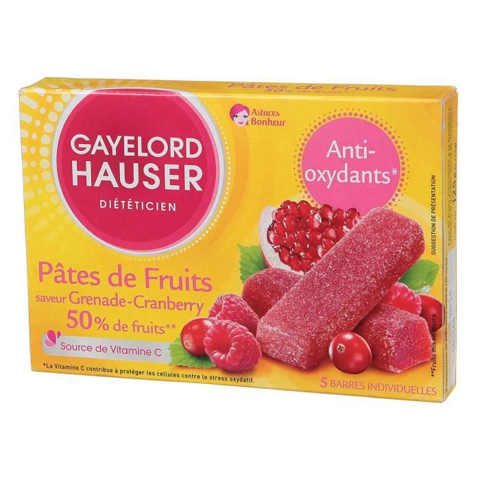 GAYELORD HAUSER Pâtes de Fruits Grenade Cranberry Anti-oxydant - 125 g