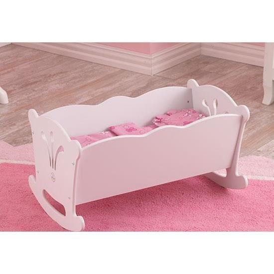 berceau pour poup e poupon en bois avec literie achat vente accessoire poupon cdiscount. Black Bedroom Furniture Sets. Home Design Ideas