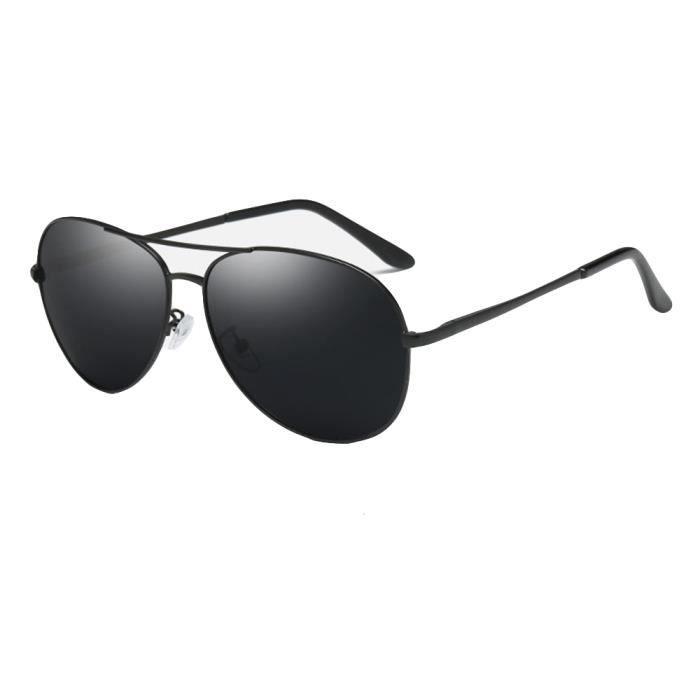 Noir en Lunettes sunglasses de marque Noir Fashion de polarisées Luxe homme Métal Cadre soleil de xwZSUOfq0w