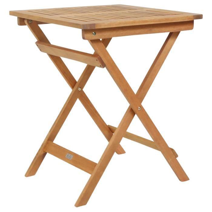 Table de jardin en bois carrée