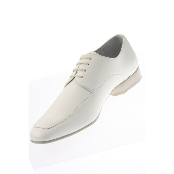 dymastyle chaussures chaussure blanc blanc achat vente derby cdiscount. Black Bedroom Furniture Sets. Home Design Ideas