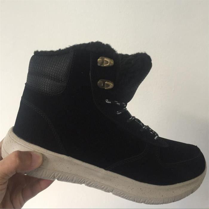 cachemire et chaussures Hiver Chaud Bottes de neige de plein air Chaussures résistantes à l'usure Antidérapant Plus Taille 0K7wk0l