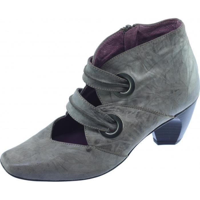 344e68226bf77 ZELLIA - Low-boots souple à petit talon chaussures femme petites ...