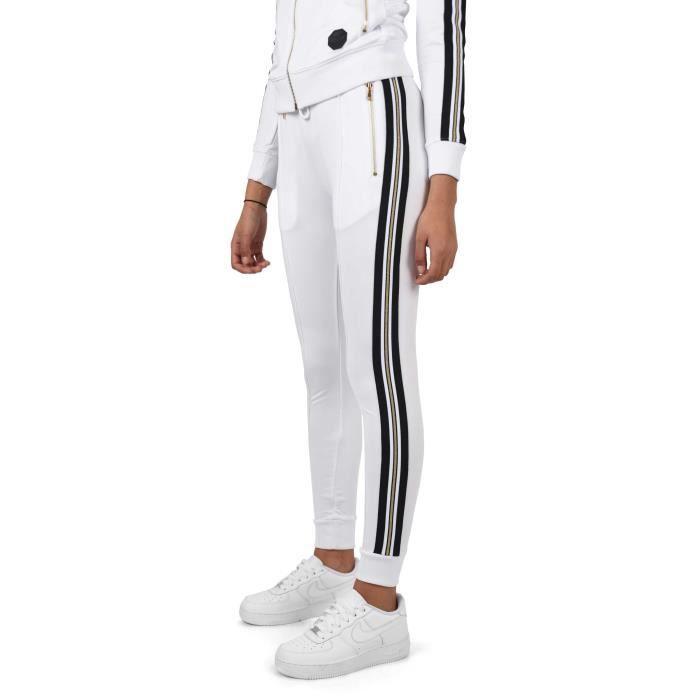 Bas de jogging femme blanc - Achat   Vente pas cher 98a106bb6c8d