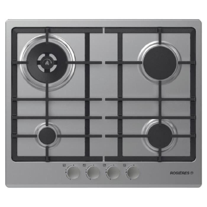 rosieres table de cuisson gaz 60cm 4 feux inox rtg64wfbin achat vente plaque gaz cdiscount. Black Bedroom Furniture Sets. Home Design Ideas
