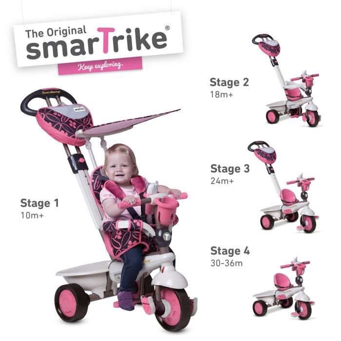 smart trike r ve riche tricycle rose monter sur prix pas cher cdiscount. Black Bedroom Furniture Sets. Home Design Ideas