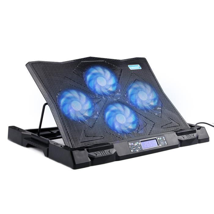 5404390563c657 TECHSTICK® K6 Refroidisseur PC portable avec Écran LED et 2 ports USB  Refroidissement ultra-silencieux pour 15.6 à 18 pouces
