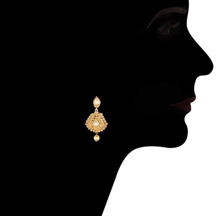 Plaqué or traditionnel des femmes 24k Set Avec Maang bijoux Tikka Pour Ms121 ITRX1