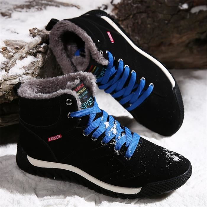Saguaro Hiver chaud en fausse fourrure lacent Bottines Chaussures Casual GI6NS Taille-40 1-2
