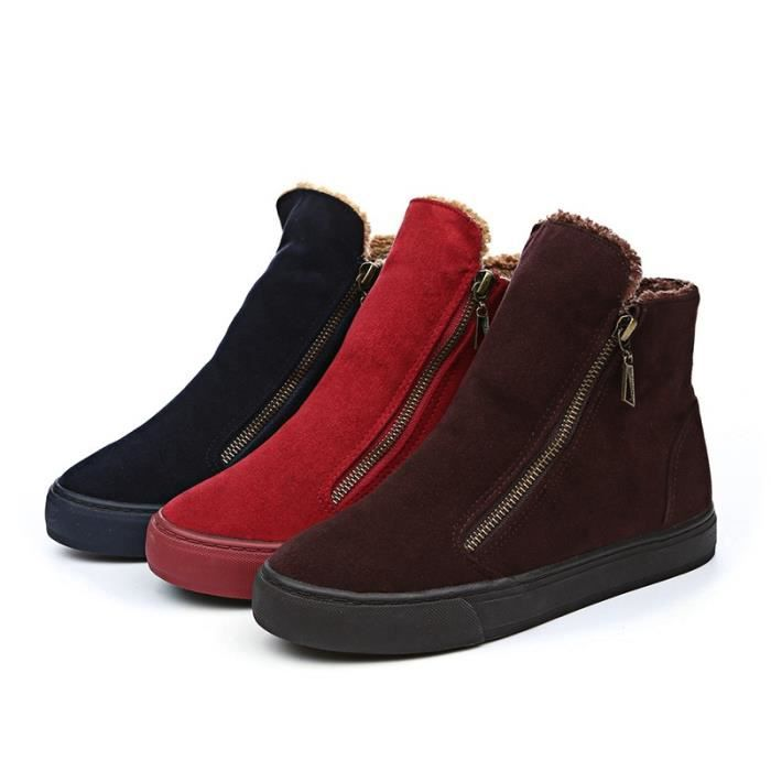 Bottes pour femmes tisser des bottes d'hiver au milieu des bottes de veau chaudes chaussures d'hiver YLL70905523 XT4bJq