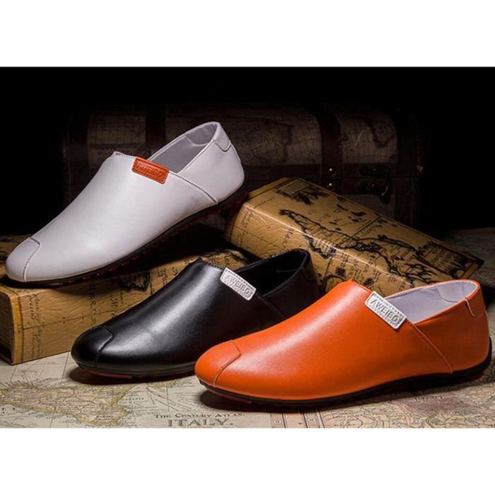 Moccasins homme De Marque De Luxe 2017 cuir Nouvelle arrivee Qualité Supérieure Confortable Durable Antidérapant Chaussures Grande