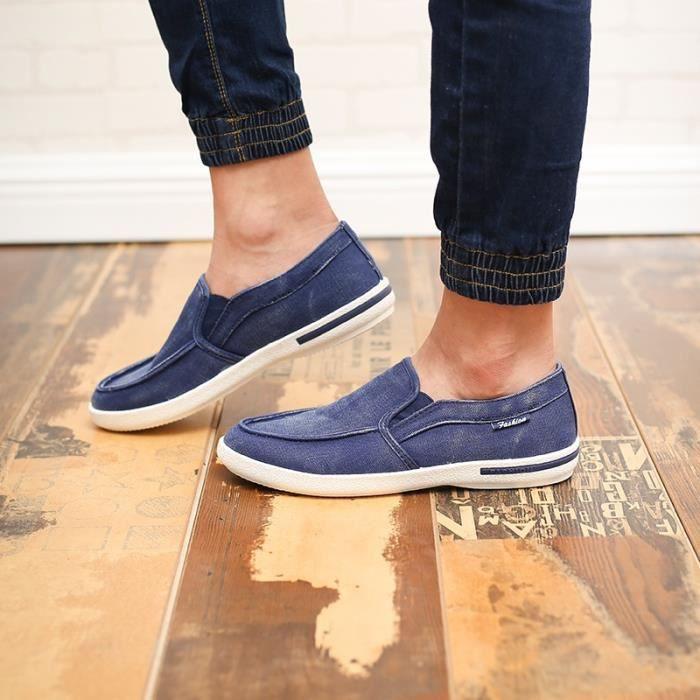 Nouveaux Solid Color Mode Hommes Mocassins Casual Hot ventes Marque Hommes Chaussures Multisport respirant en plein air Chaussures TXqJYpg7kX