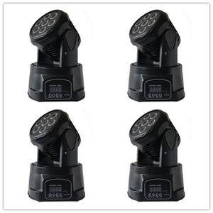 LAMPE ET SPOT DE SCÈNE Pack de 4 RGBW 7x4w Lyre Wash 84W QUAD - 7x4W led