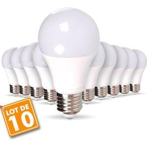 AMPOULE - LED Lot de 10 Ampoules E27 11W  Eq 90W Blanc naturel