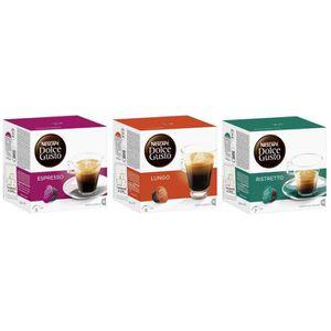 CAFÉ - CHICORÉE Nescafé Dolce Gusto Capsules Espresso + Lungo + Ri