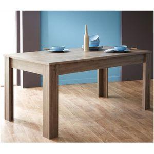 TABLE À MANGER SEULE Table à manger rectangulaire bois Design Chêne,L17