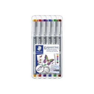 FEUTRES STAEDTLER pigment liner 308 Feutre fin couleurs as