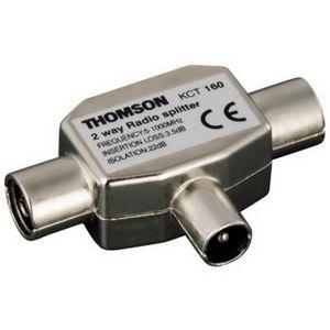 REPARTITEUR TV THOMSON-Répartiteur d´antenne, fiche coaxiale- 2 p